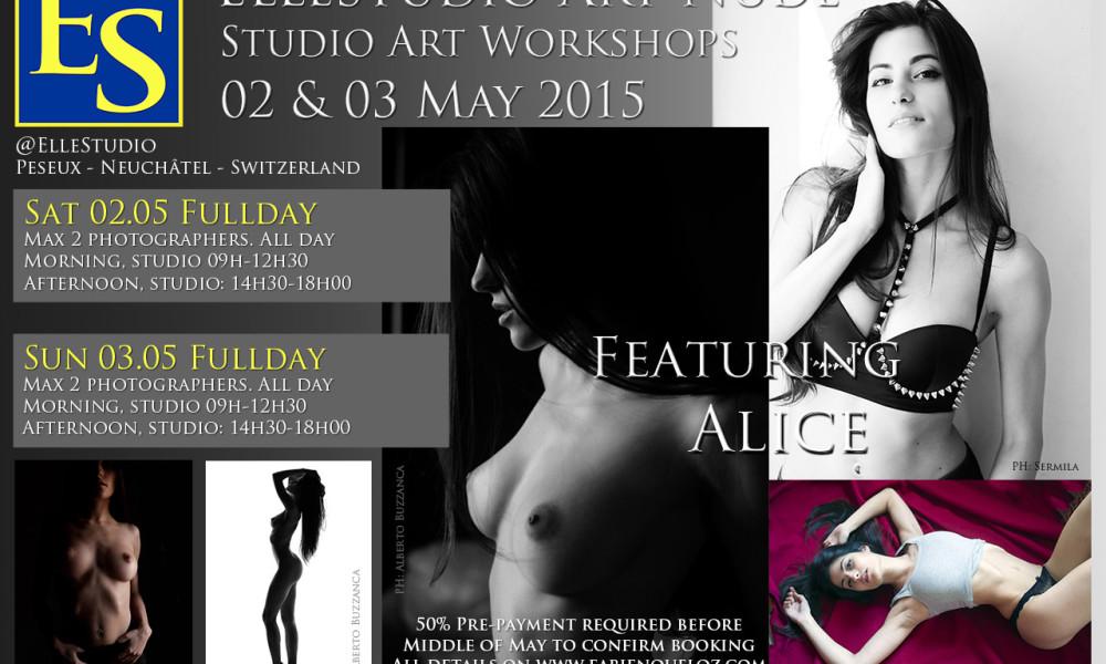 Nouveau stage de nu artistique avec Alice!